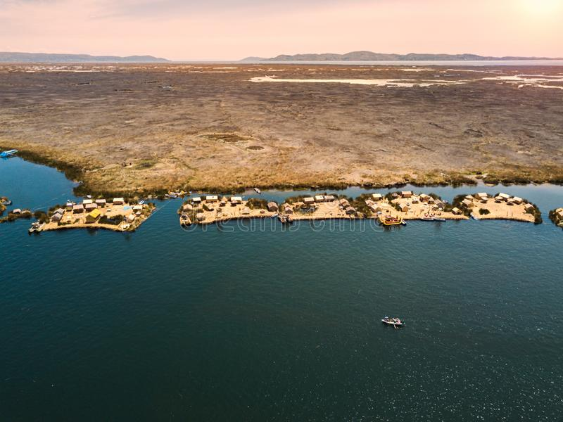 Aerial of floating islands royalty free stock image