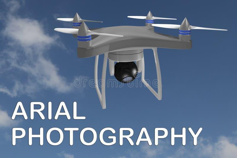 AERIAL FOTOGRAFIE-Konzept stock abbildung