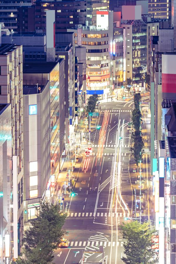Aerial Hakata Fukuoka Japan stock image