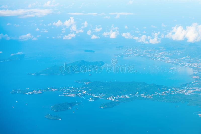 Download Aerial View Of The Tropical Islands In Blue Sea Water Stock Photo - Image: 102084466