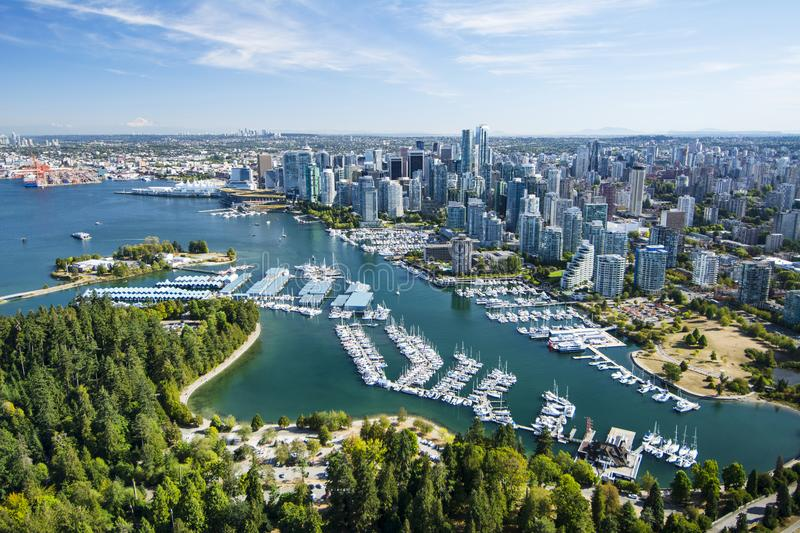 Aerial image of Vancouver, BC stock image