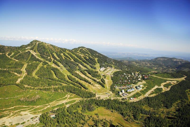 Aerial image of Mt. Washington alpine ski resort, BC, Canada royalty free stock photo