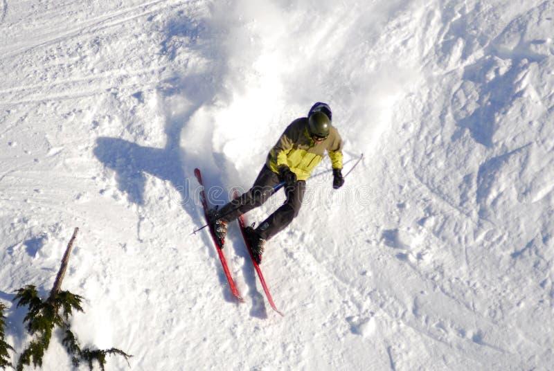 Aerial image of Mt. Washington alpine ski resort, Vancouver Island, BC, Canada stock image