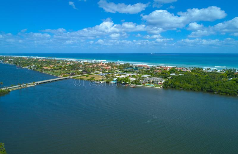 Aerial image Palm Beach Florida royalty free stock photography