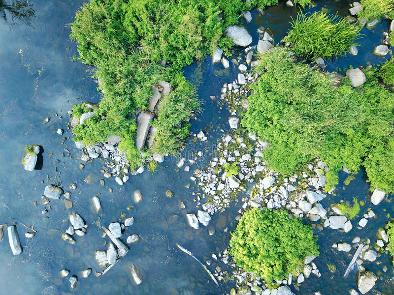 Aerial image of river and trees. Drone shot. Aerial image of river and trees. Ukraine.Zhytomir region royalty free stock images
