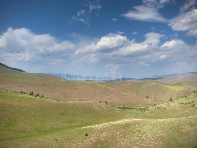 Aerial Kite View of Open Range Wild West royalty free stock photography