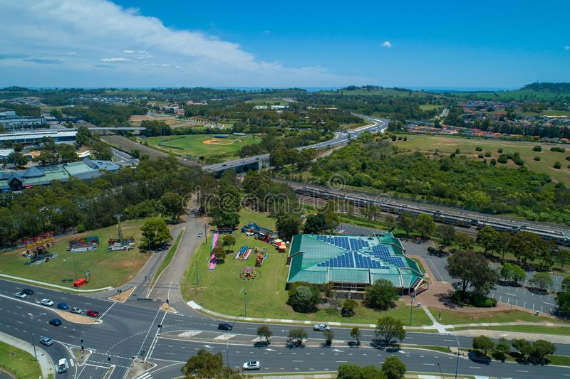 Aerial landscape of Campbelltown. Aerial landscape of Campbelltown, New South Wales, Australia on bright sunny day stock photos