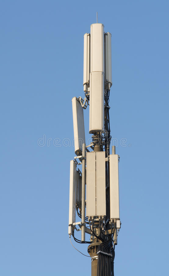 The Aerial Mast For Mobile Phones Royalty Free Stock Photography