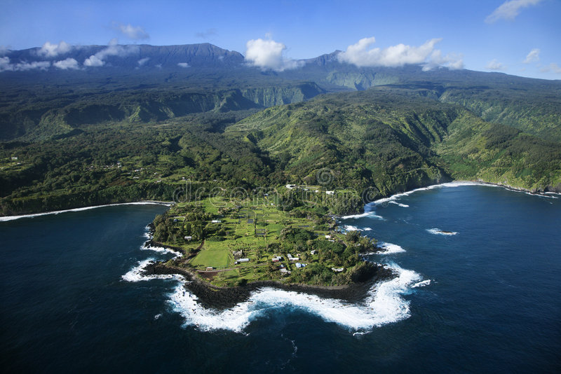 Aerial of Maui. royalty free stock photos