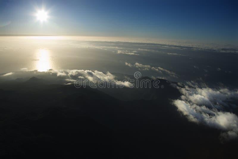 Aerial of Maui coast. stock photo