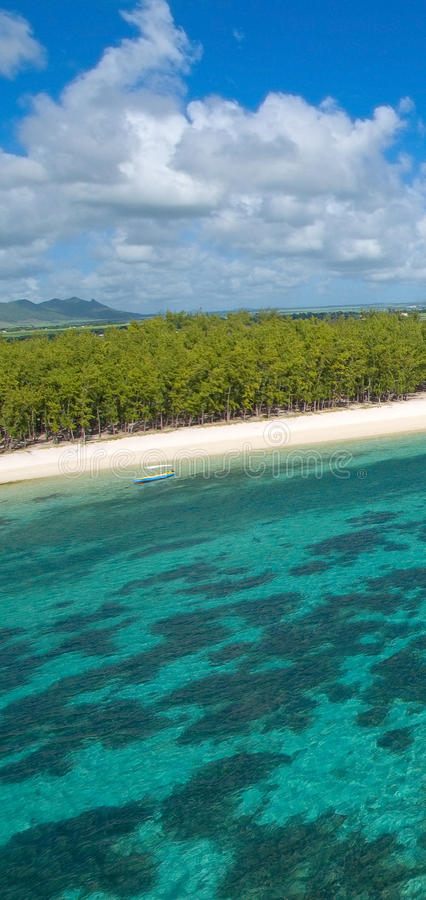 Aerial Mauritius royalty free stock photo