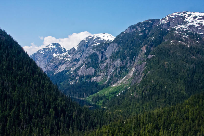 Aerial of Misty Fjords stock photography