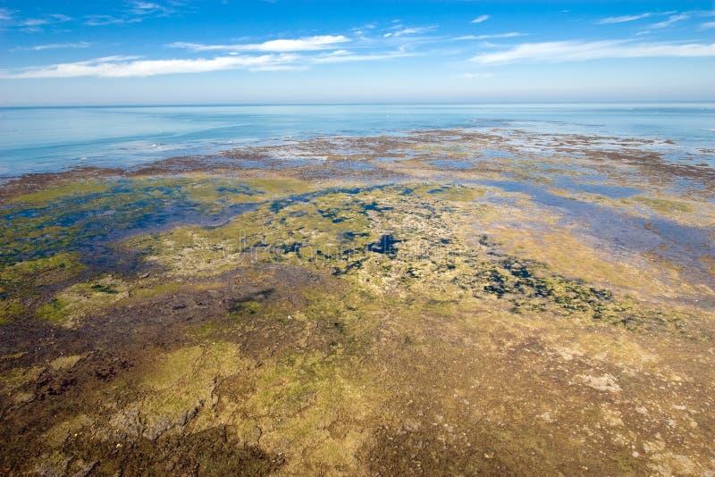 Aerial ocean landscape stock image
