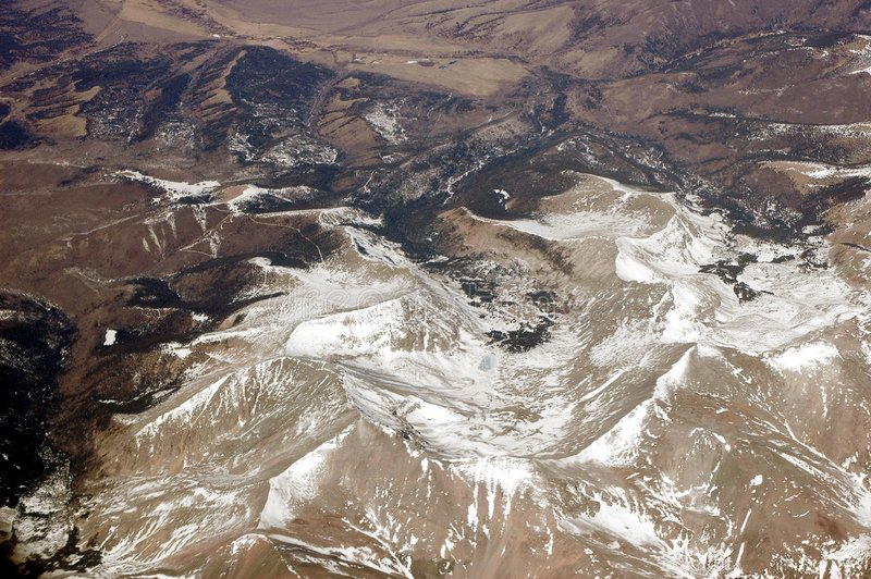Aerial Over the Rocky Mountains 3 royalty free stock photography