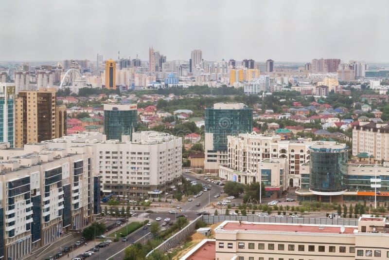 Aerial panorama of Astana royalty free stock photo