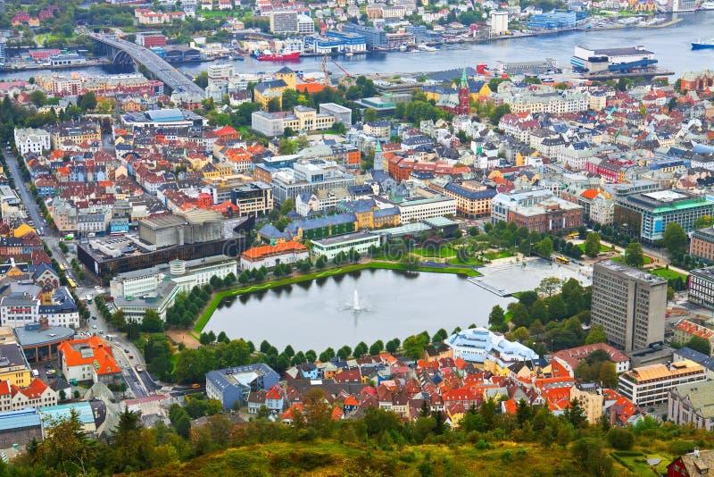 Download Aerial Panorama Of Bergen, Norway Stock Image - Image: 13887105