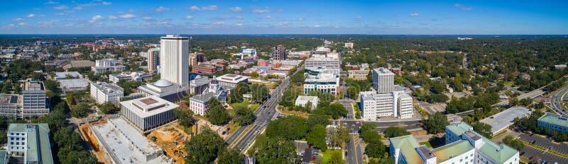 Aerial panorama Downtown Tallahassee Florida royalty free stock image