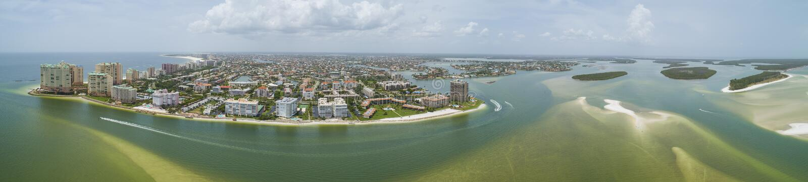 Aerial panorama Marco Island Florida royalty free stock photo