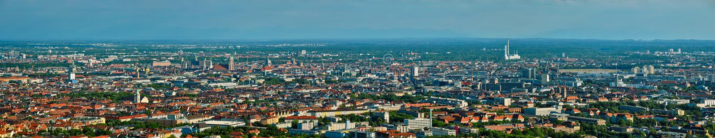 Aerial panorama of Munich. Munich, Bavaria, Germany stock photo