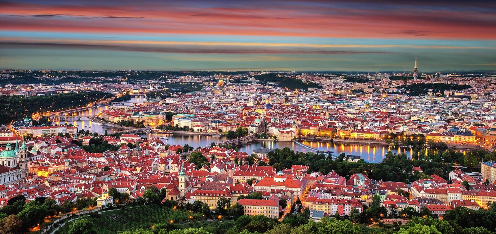 Aerial panorama of the Old town in Prague, Czech Republic, Europe. royalty free stock photos