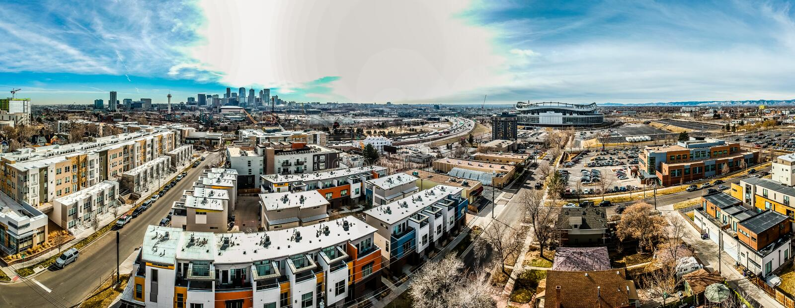 Neighborhood of Denver, Colorado royalty free stock photography