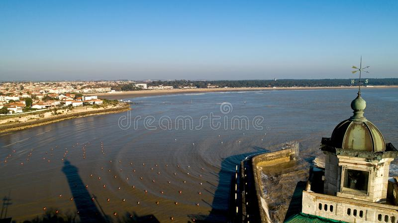 Aerial panorama of Saint Georges de Didonne in Charente Maritime. France royalty free stock image