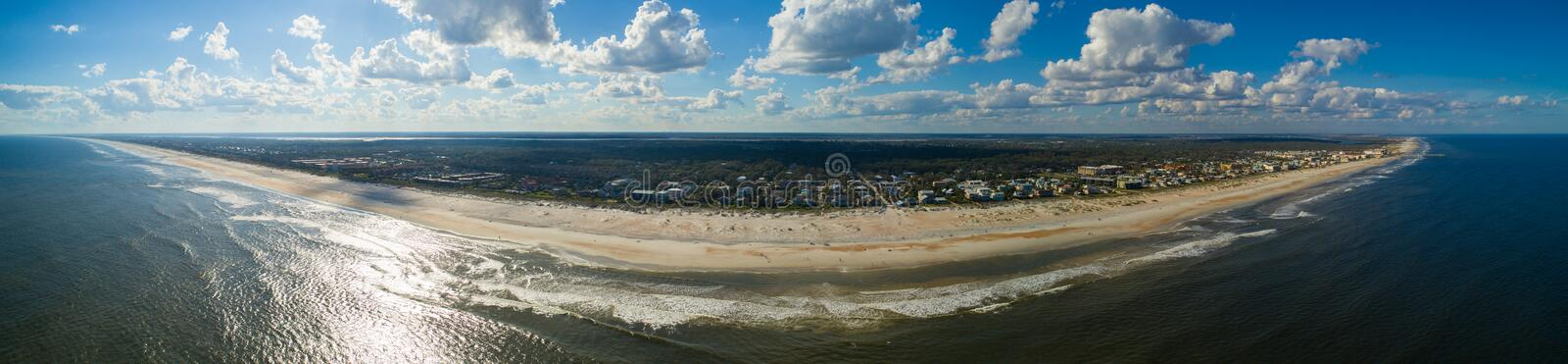 Aerial panorama St augustine Beach FL stock photography