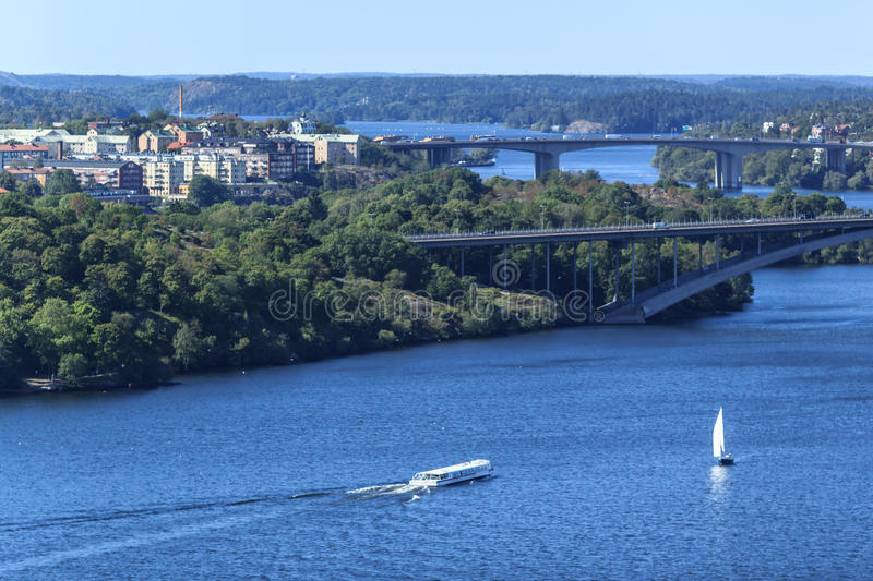 Aerial panoramic view of Stockholm, Sweden stock photos