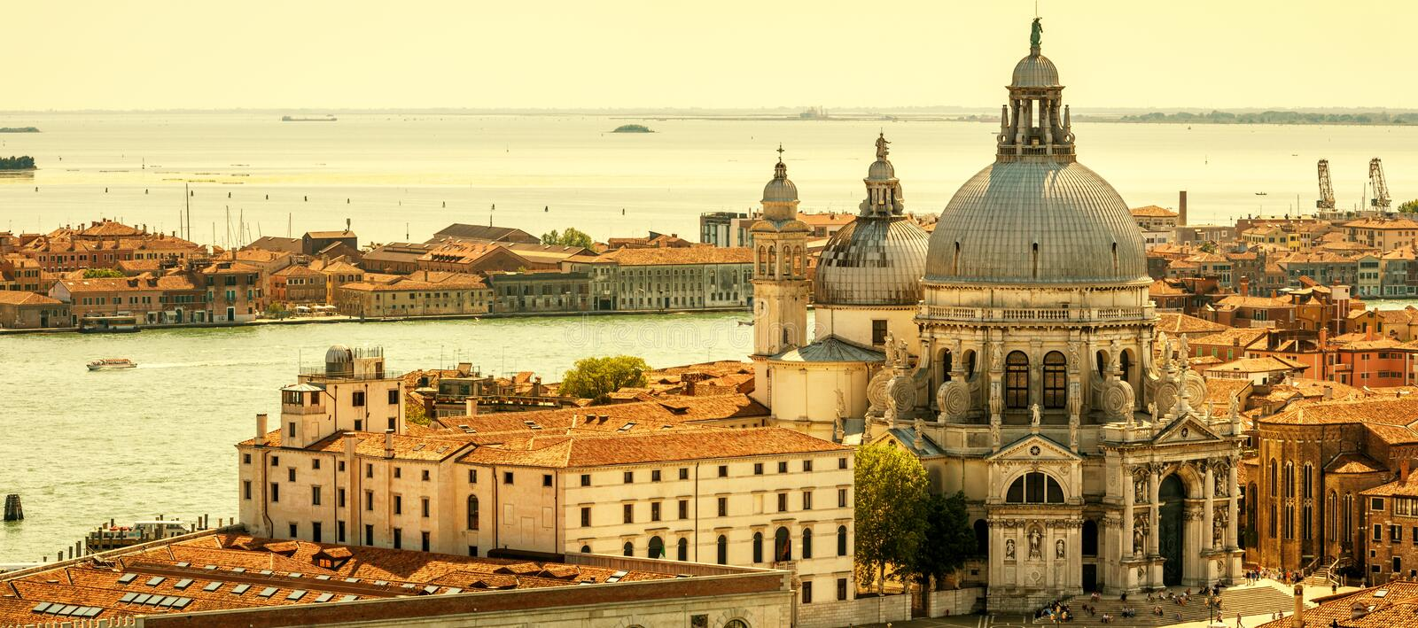 Aerial panoramic view of Venice, Italy royalty free stock image