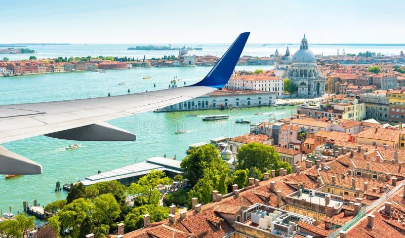 Aerial panoramic view of Venice, Italy stock photos