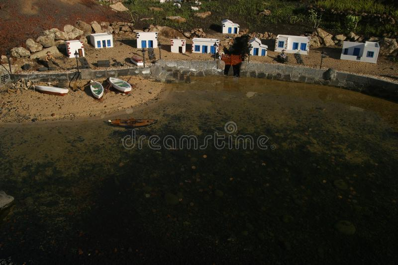 Aerial Photo of Boats Beside Body of Water stock photo