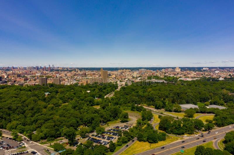 Aerial photo Bronx Zoo New York USA stock photos