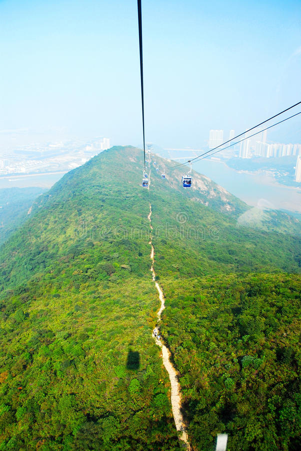 Download Aerial photo of cable car stock photo. Image of kong - 15251792