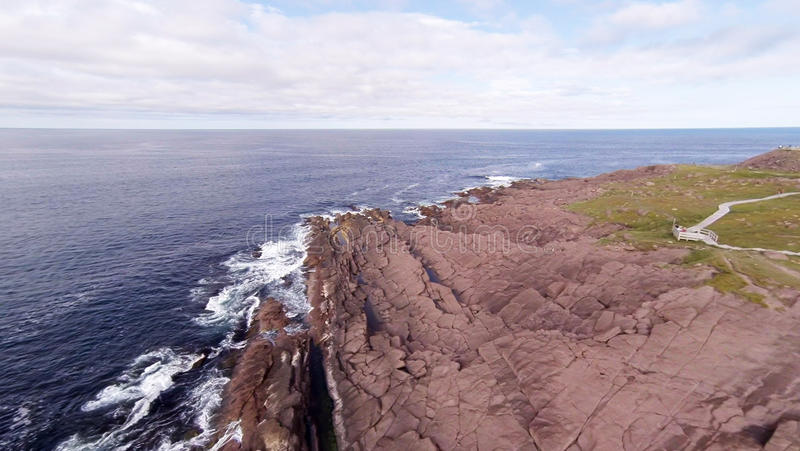 Aerial photo of Cape Spear Coastline stock photography