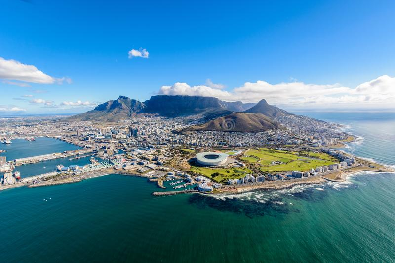 Aerial photo of Cape Town 2 stock photo