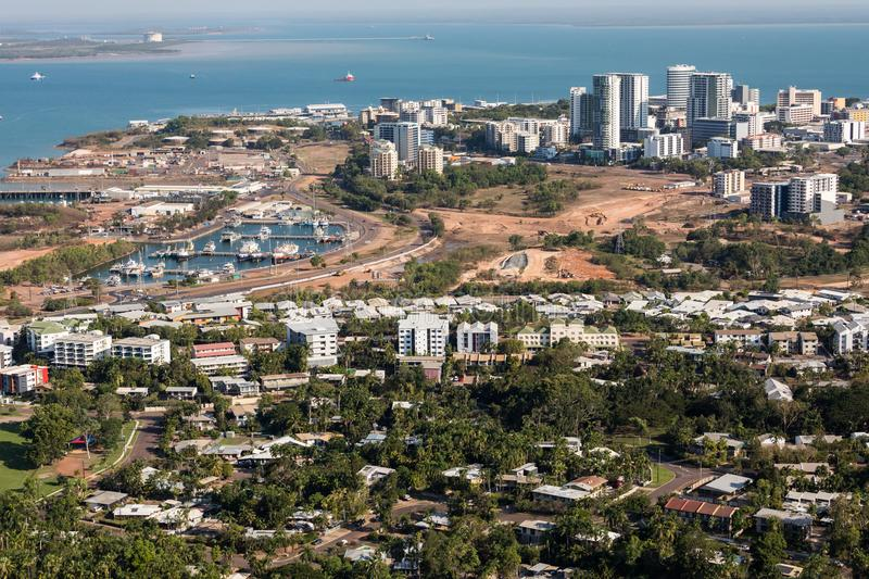 An aerial photo of Darwin, the capital city of the Northern Territory of Australia. royalty free stock image