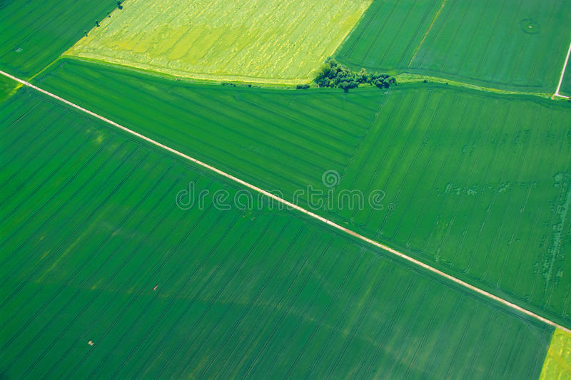 Aerial Photo of Domains, Germany. Photos taken during a flight in a height of 300m in May 2014 in Germany stock photography
