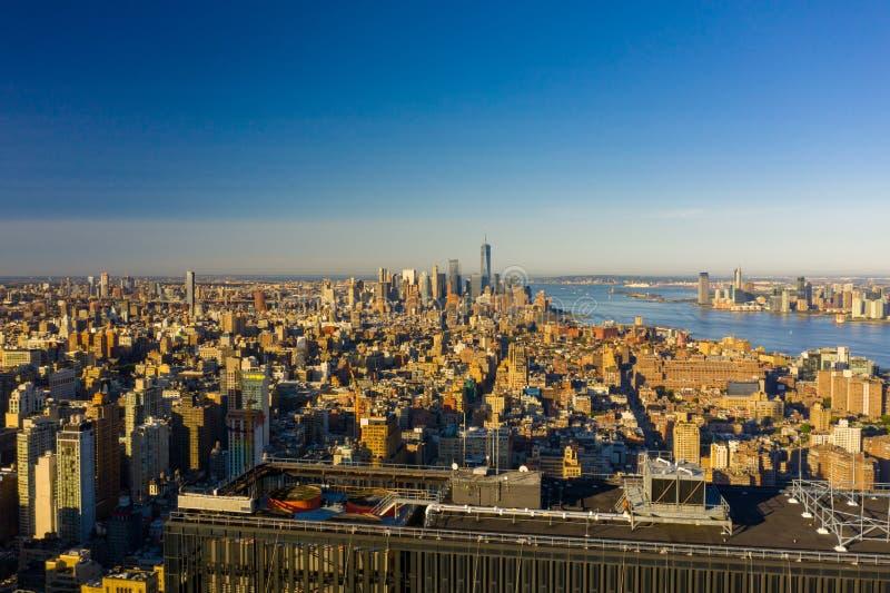 Aerial photo Downtown Manhattan NY USA. Aerial photo Downtown Manhattan NY stock photography