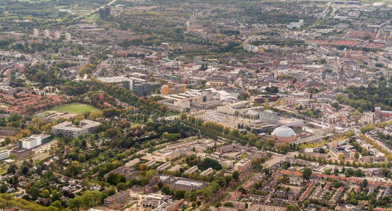Aerial photo of the Dutch city of Breda royalty free stock image