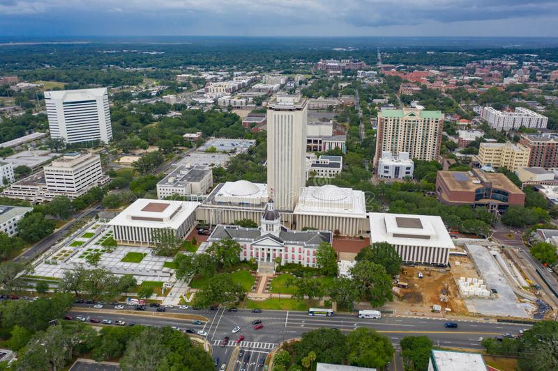 Aerial photo Florida State Capitol Building Tallahassee. USA stock photography