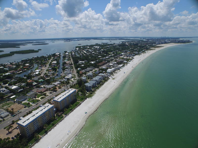 Aerial photo Fort Myers Beach FL stock photography