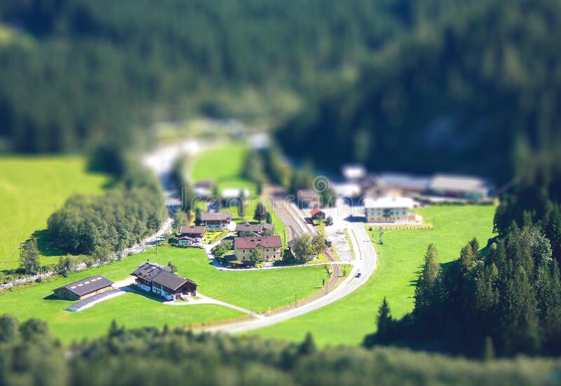 Aerial Photo of Houses stock image
