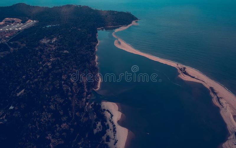 Aerial Photo of Island royalty free stock photos