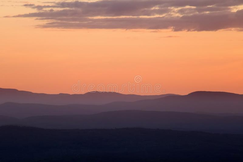 Aerial Photo of Mountain Covered With Fogs stock photo