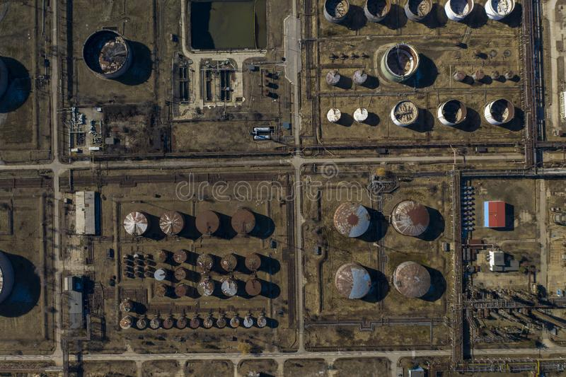 Oil Refinery. Aerial photo Of Oil Refinery royalty free stock photography