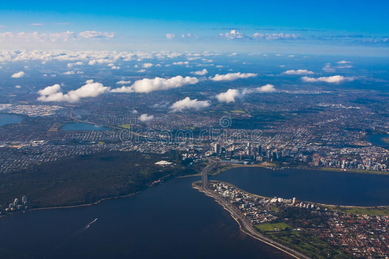 Aerial photo of Perth, Western Australia royalty free stock photos