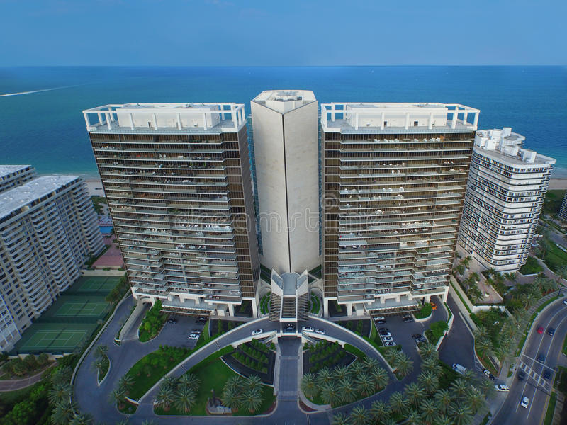 Aerial photo St Regis Bal HArbour stock images