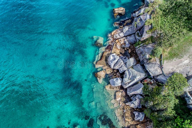 Aerial photo of Sydney - Camp Cove Watsons Bay stock photography
