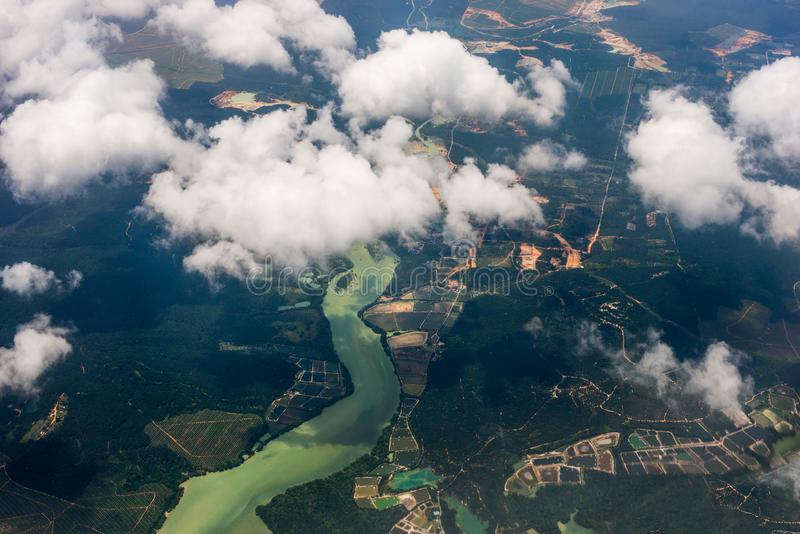 Aerial photo, view from the airplane royalty free stock photos