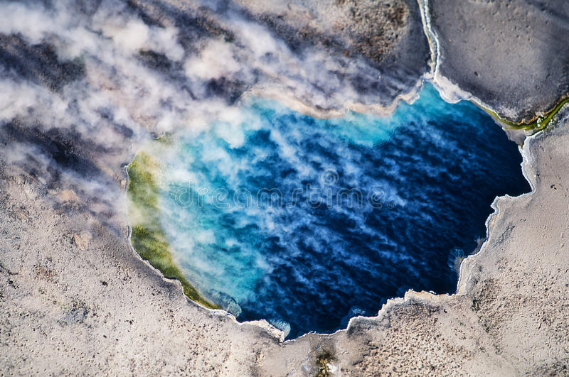 Aerial photo of Yellowstone Park geothermal royalty free stock photos